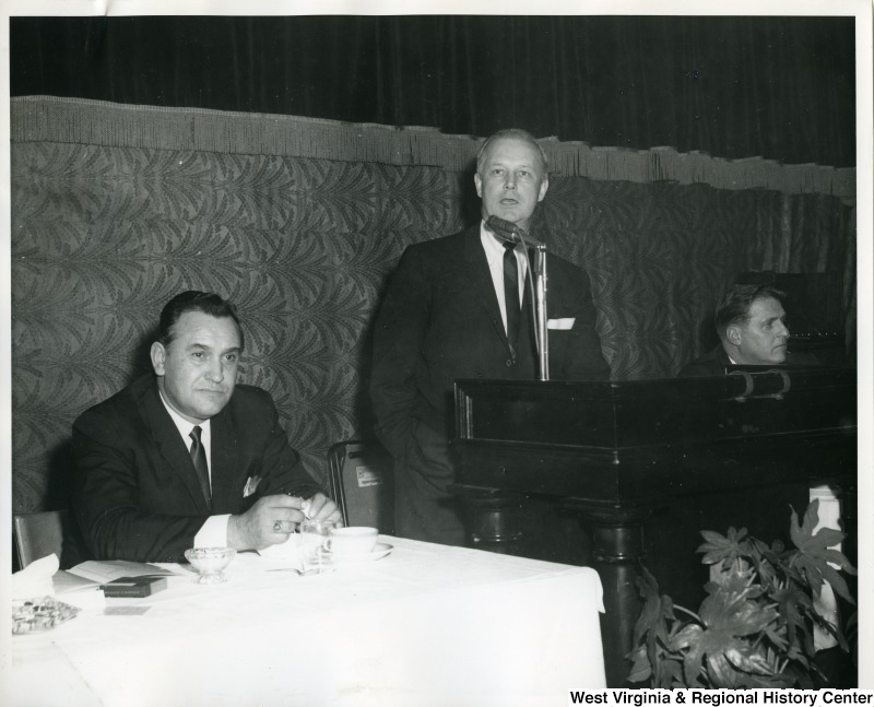 Photograph of Congressman Moore speaking at the Silver