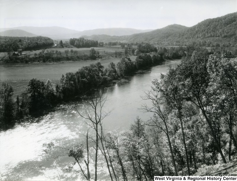 A photograph of the Cheat River below St. George, W.Va.