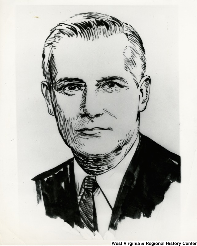 A drawing of Congressman Arch A. Moore, Jr.