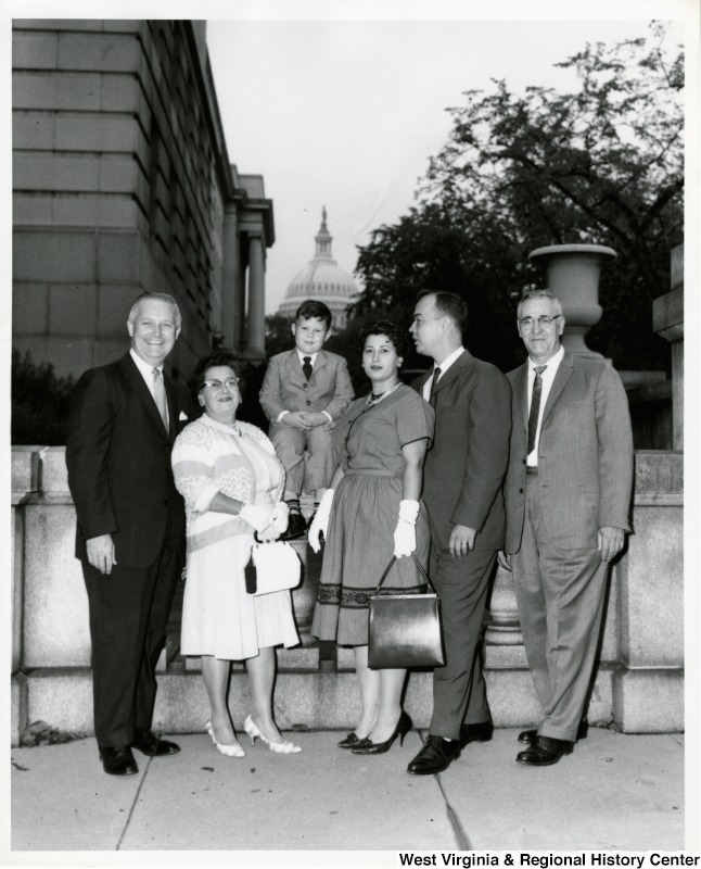Congressman Arch A. Moore, Jr. with an unidentified family of five.