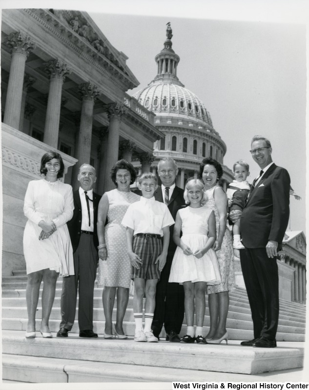 Congressman Arch A. Moore, Jr., and Shelley Moore with Mr. Tucker, Don Doylan and his family.