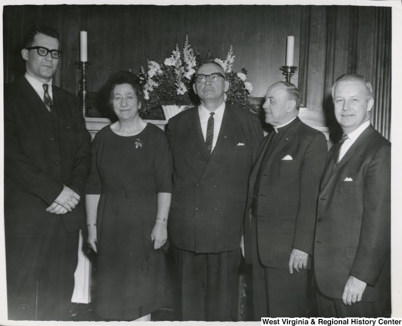Congressman Arch A. Moore, Jr. (right) with the House Chaplains.