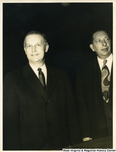 Congressman Arch A. Moore, Jr. with an unidentified man.