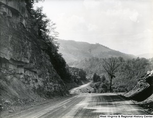A landscape of Route #5 near Seneca, in Pendleton County, West Virginia.