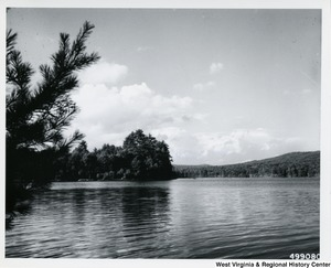 A photograph of Lake Sherwood, located in Greenbrier County, W.Va.