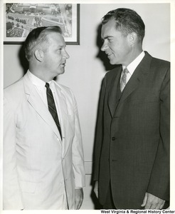 Congressman Arch A. Moore, Jr. talking to Richard Nixon.