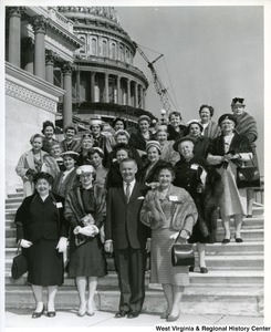 Congressman Arch A. Moore, Jr. and his wife, Shelley Moore (left of Congressman Moore), with the West Virginia group at the Republican Women's Conference in Washington.
