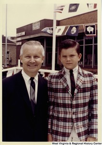 "Congressman Arch A. Moore, Jr. with his son Arch ""Kim"" Moore, III."
