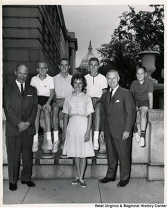 Congressman Arch A. Moore, Jr. with an unidentified group of people.