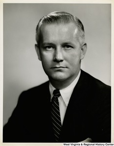 A black and white head shot of Congressman Arch A. Moore, Jr.