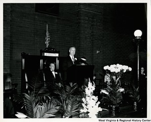 Congressman Arch A. Moore, Jr.  speaking at the Elks Memorial Service in Clarksburg, W.Va.