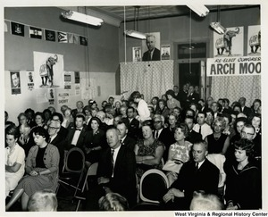 The audience at a re-elect Congressman Arch A. Moore, Jr. gathering.