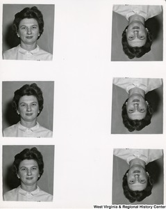 "Six head shots of Mrs. Sadie ""Shelley"" Moore."