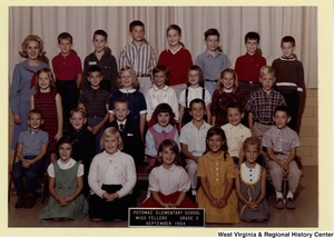 Potomac Elementary School class of 1964, grade 3. Lucy Moore, Congressman Moore's youngest daughter, is in the front row, first on the right.