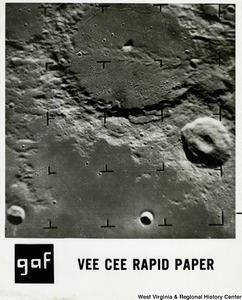 Television picture taken by Ranger IX prior to impact on March 24, 1965. Taken 2 minutes, 50 seconds before impact.