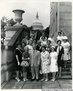 Congressman Arch A. Moore, Jr. with a group of women from the West Virginia Business and Professional Women.