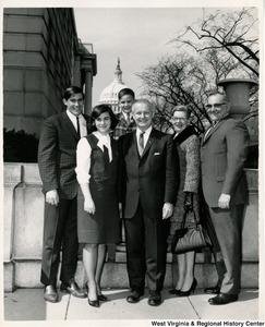 Congressman Arch A. Moore, Jr. with an unidentified group of men and women.