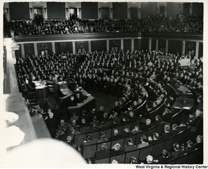 President Lyndon Johnson addressing Congress.