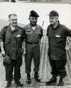 Congressman Arch A. Moore, Jr. standing with Lieutenant Colonel Hai in Tuy Hoa, Phu Yen, Vietnam.