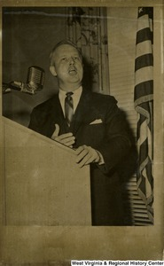 Congressman Arch A. Moore, Jr. giving a speech at the House Office Building.