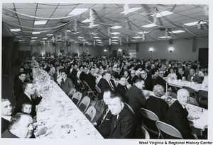 A full banquet hall for the Italian Sons and Daughters banquet in Weirton, W.Va.