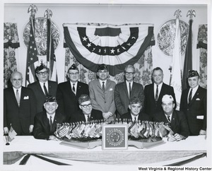 An unidentified group of men at the American Legion Banquet and Dance at the Pleasant Valley Country Club in Weirton, W.Va.