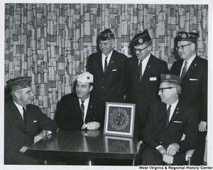 An unidentified group of men at the American Legion Banquet and Dance at Pleasant Valley Country Club in Weirton, W.Va.