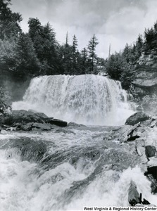 Photograph from the base of Blackwater Falls.