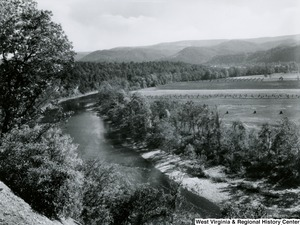 A photograph of Cheat River near St. George, W. Va.