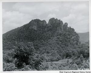 Seneca Rocks as seen from U.S. Route 33.